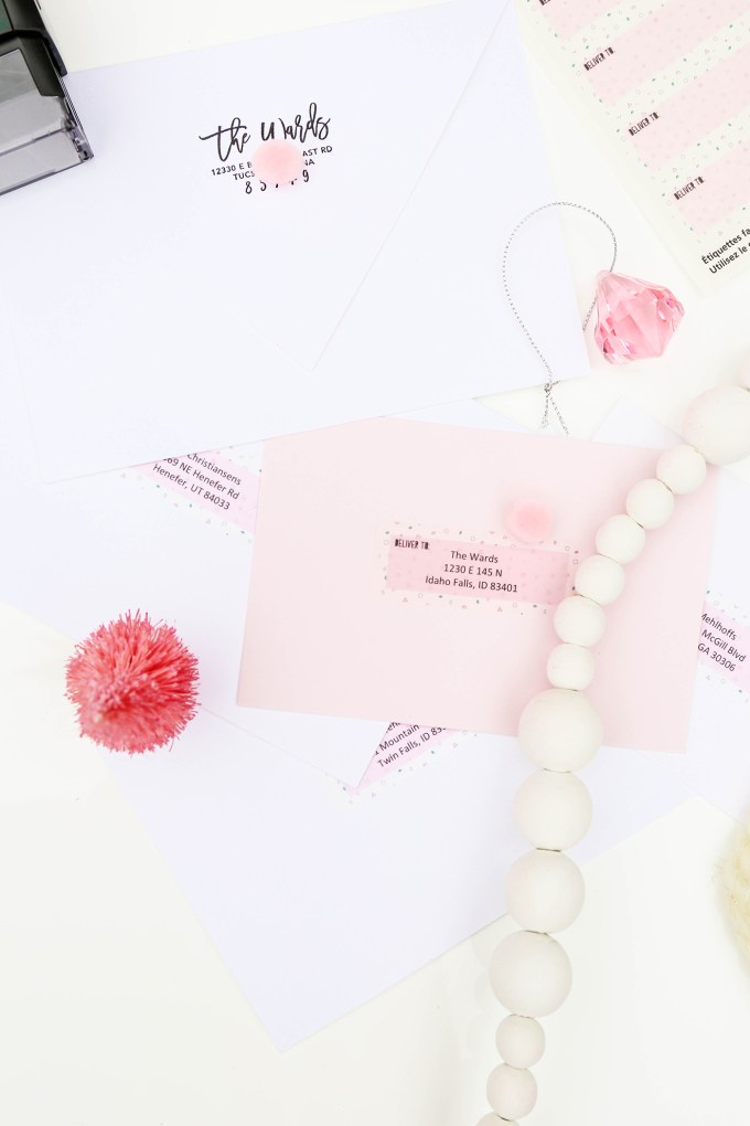 #ProperPrintables - Printable Holiday Mailing Labels To Address All Your Cards This Year
