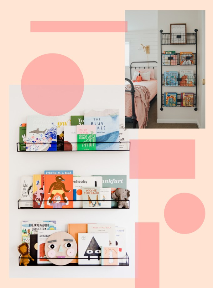 children's book shelves and displays
