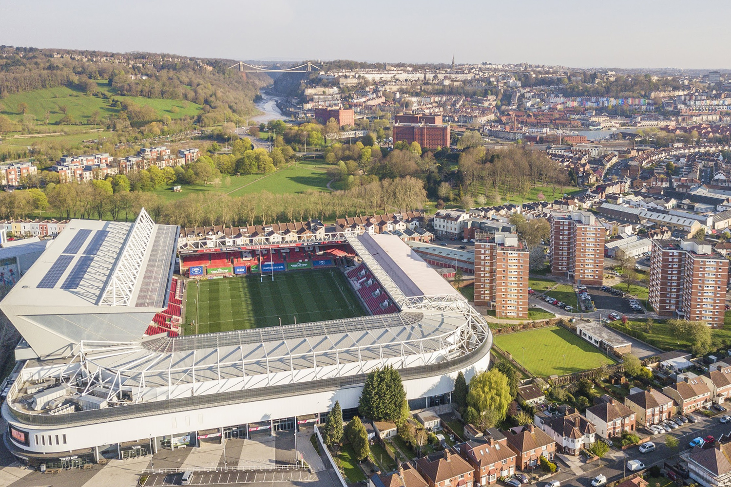 Bristol City Football Club from drone