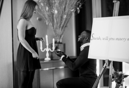 Marriage Proposal in the Shangri La Shard by The Proposers