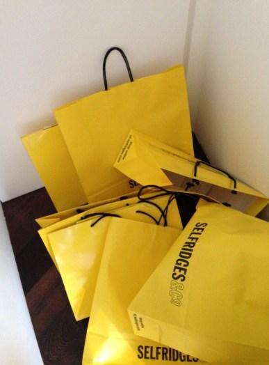 Shopping from Selfridges.