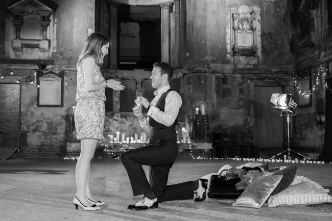 Secret Cinema Marriage Proposal planned by The Proposers