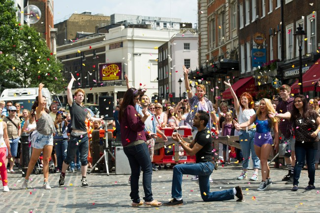 The Proposers Flash Mob - Covent Garden, London 13/7/13 ©Chris Lobina