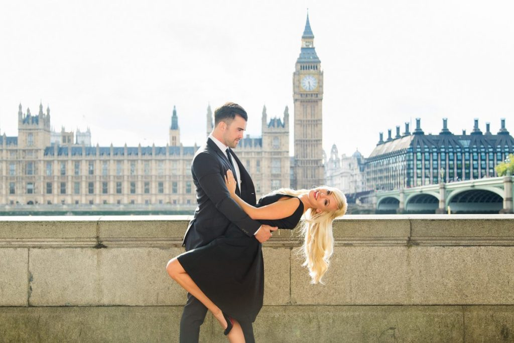 Marriage proposal planned outside the Houses of Parliament by The Proposers