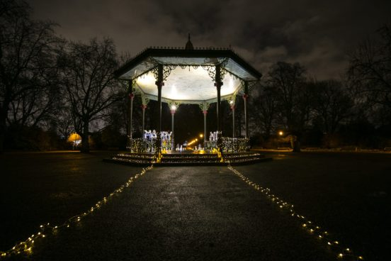 bandstand beautifully decorated in battersea park