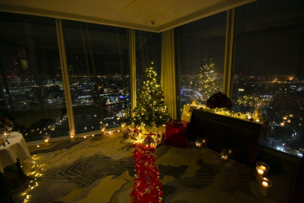 Proposing in The Shard at Christmas