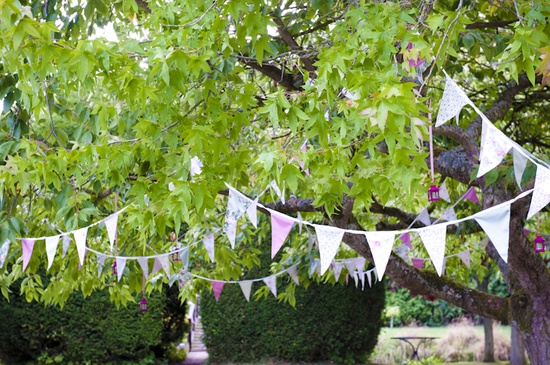 We would provide some mystery with a trail of bunting leading to your private location