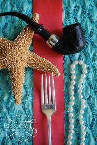Place settings would have a nautical twist...