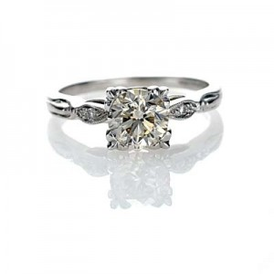 A vintage engagement ring would be perfect, just like this 1920s one (photo credit: antiqueengagementrings.com)