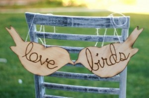 Bird themed romantic signs would be scattered around the proposal area
