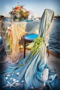 The Proposers would arrange a gorgeous mermaid themed dinner for you on the beach
