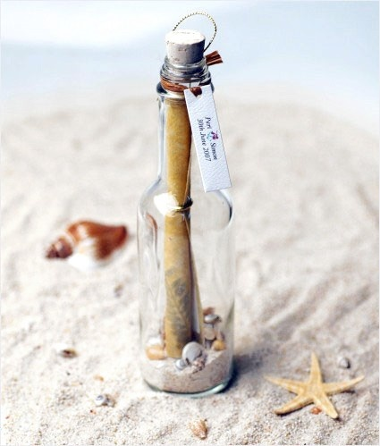We think it would be romantic if you gave her a love letter in a bottle