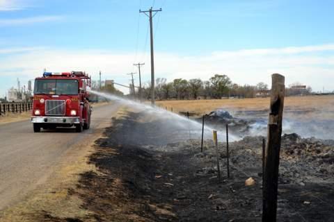 Water Soak for Burned Hay Bales