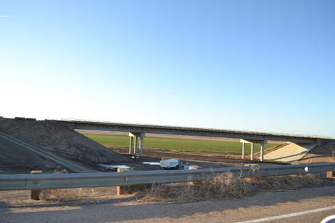 Construction on East Hwy 50 for BNSF Overpass