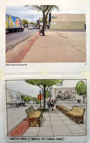 Before and After Pix of Main and Beech Streets