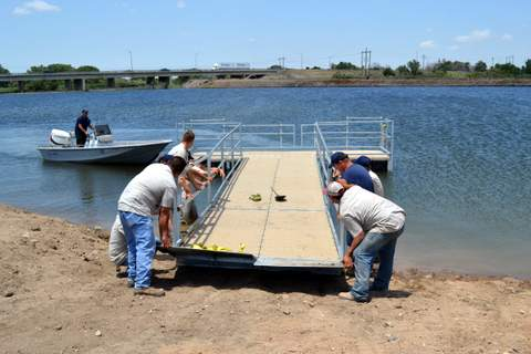 Maneuvering the Dock into Position