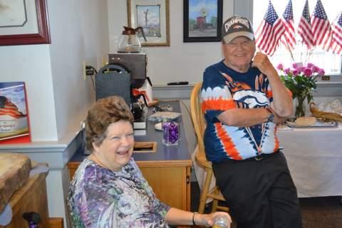 Judy and Dean Douglass at Center