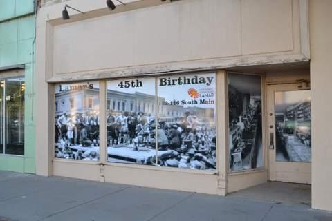 Photo in Former Main Street Café Window