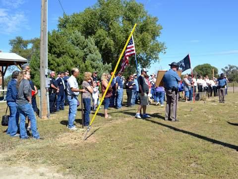 Crowd on Hand for Memorial Groundbreaking