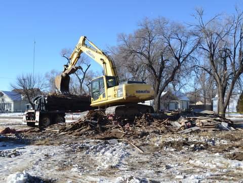 Demolition Underway on Adjoining House
