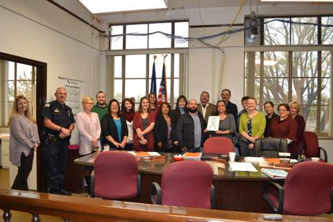 DHS Staff with Commissioners