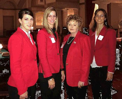 Pictured left to right:  Korry Lewis (Kim, CO),  Elisabeth Erickson-Noe (LaJunta, CO), Jillane Hixson (Lamar, CO) and  Kerry Lewis Froese (Cheraw)
