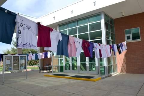 Tee Shirts Displayed at LCC Campus