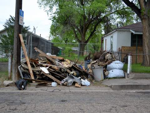Mounds of Trash Should be Collected by May 3rd