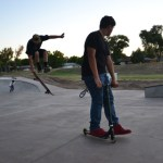 Skateboarders Are Enjoying Wheels Park