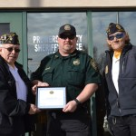 American Legion Presents PCSO with Certificate of Appreciation
