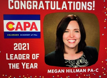Meagan Hillman, PA, Honored for Her Professional Services to Community