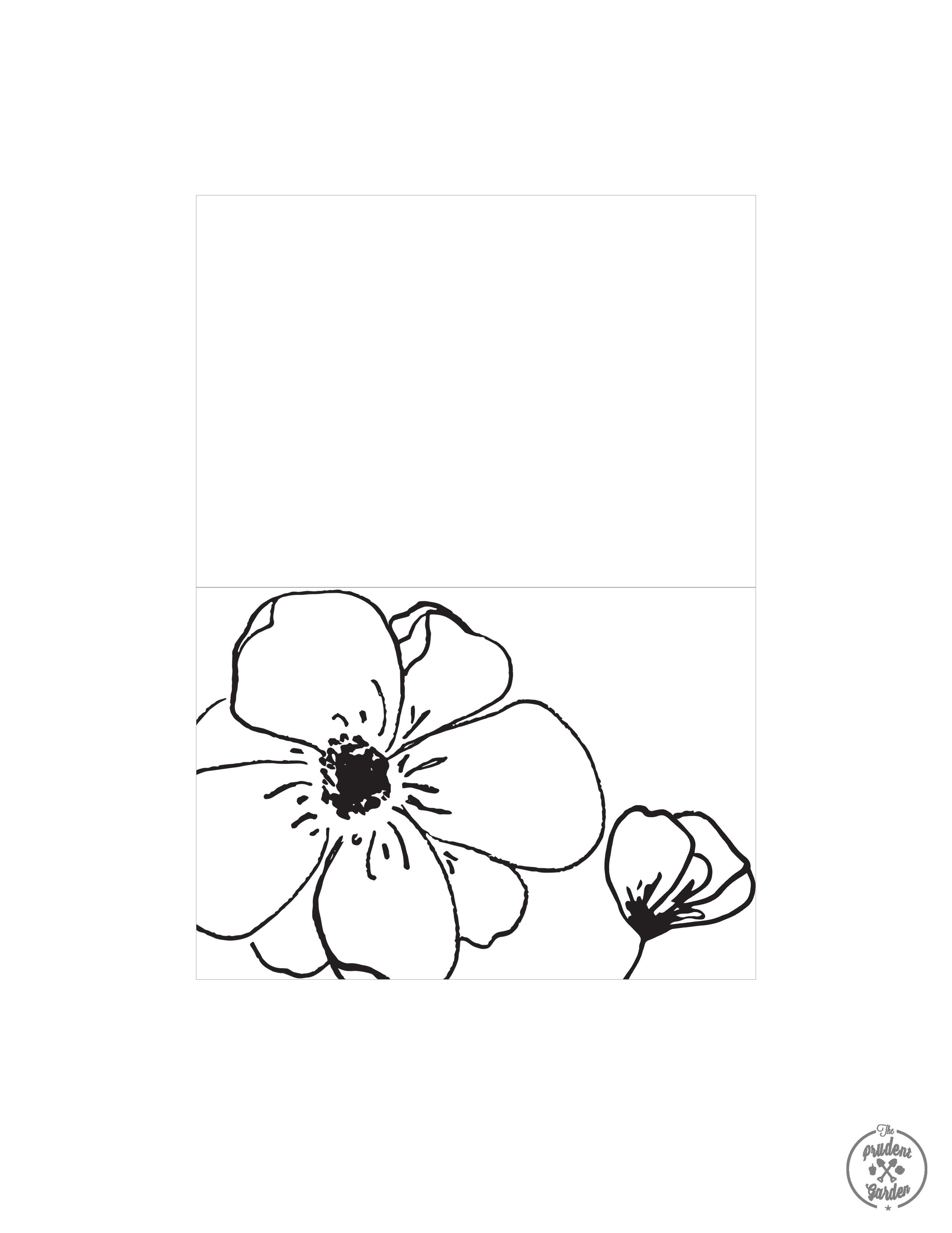 Free Flower Card Printables