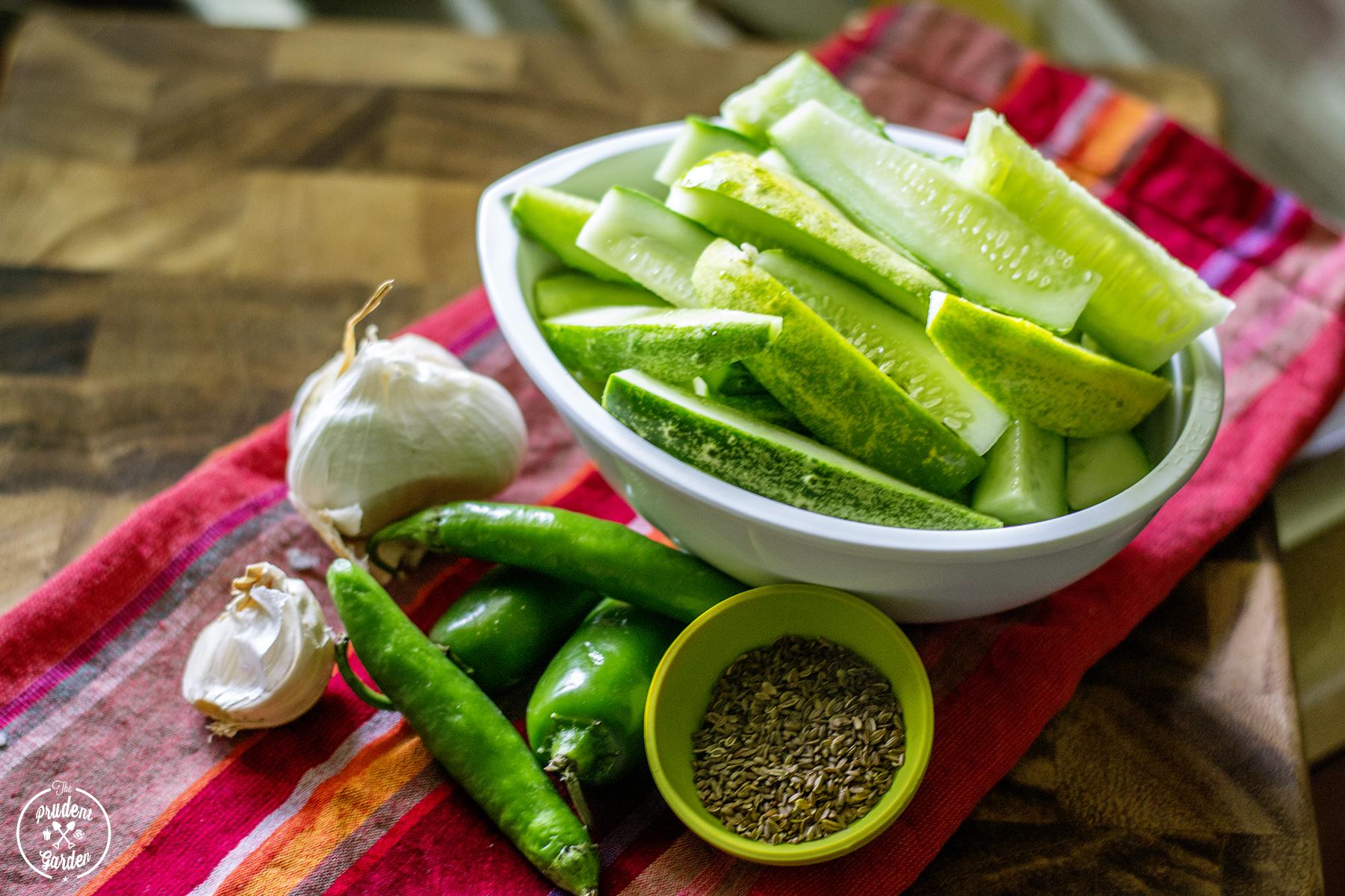 Small Batch Refrigerator Dill Pickles