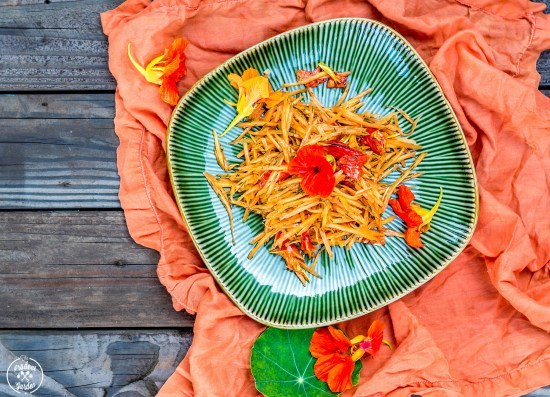 Carrot and Dill Salad With Nasturtiums