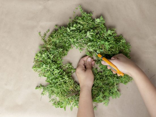Garden Fresh Herb Wreath