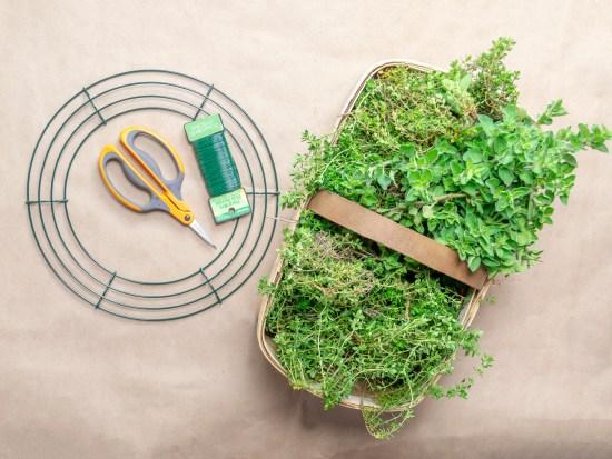 Garden Fresh Herb Wreath