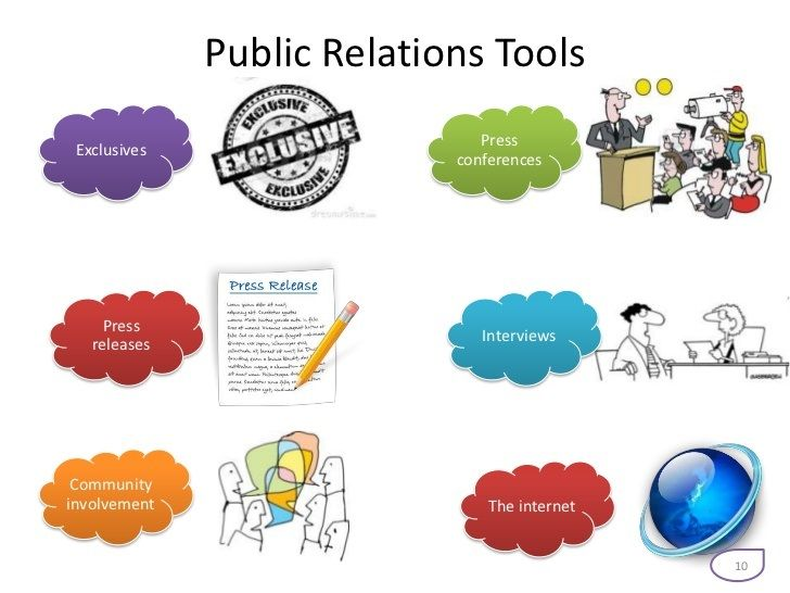 The major PR tools include press releases, press conferences and interviews.