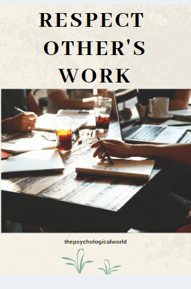 Respect other's work
