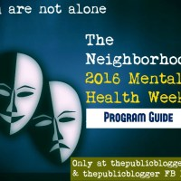 Program Guide: 2016 Mental Health Week 'You are not alone'