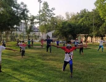 गुरूग्राम के खेल स्टेडियमों में दो माह बाद रौनक लौटने लगी : खिलाड़ियों का प्रशिक्षण शुरू