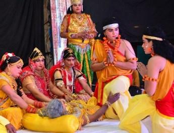 श्री दुर्गा राम लीला, जैकबपुरा में राम वनवास की लीला ने किया भावुक