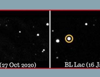 भारतीय खगोलविदों ने सबसे पुराने खगोलीय पिण्ड में विशाल ऑप्टिकल चमक का पता लगाया