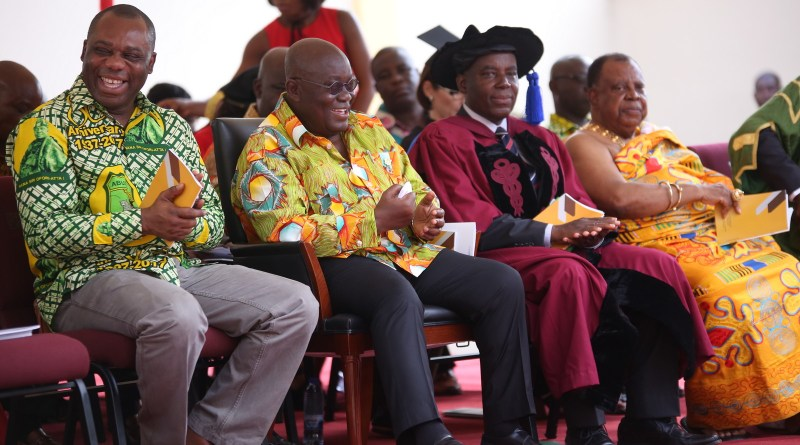 President Akufo-Addo with the Minister for Education, Hon. Matthew Opoku Prempeh at the All Nations Unive