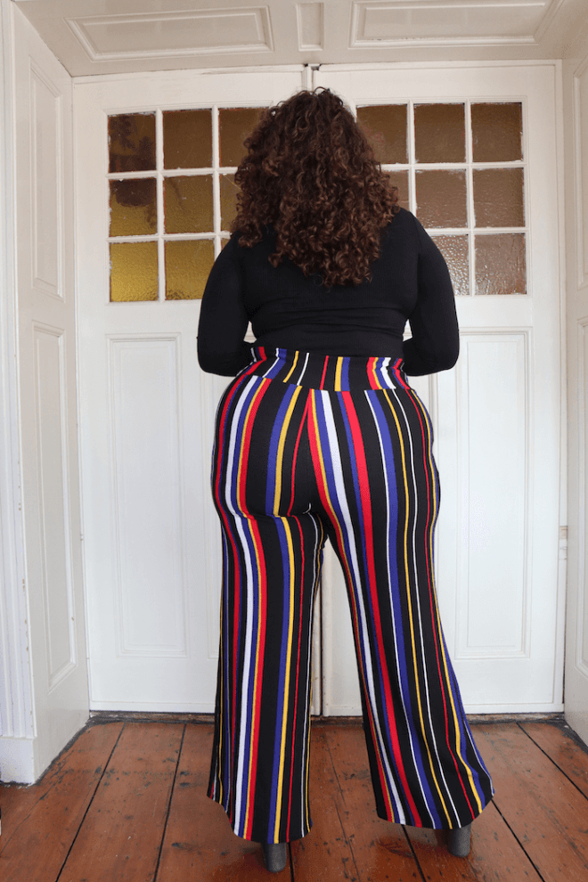 Fashion Nova Curve - Helene Stripe Pants - Mayra Louise