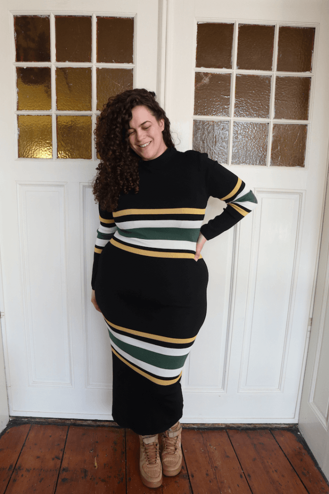 Fashion Nova Curve - Picked Perfect Striped Dress - Mayra Louise