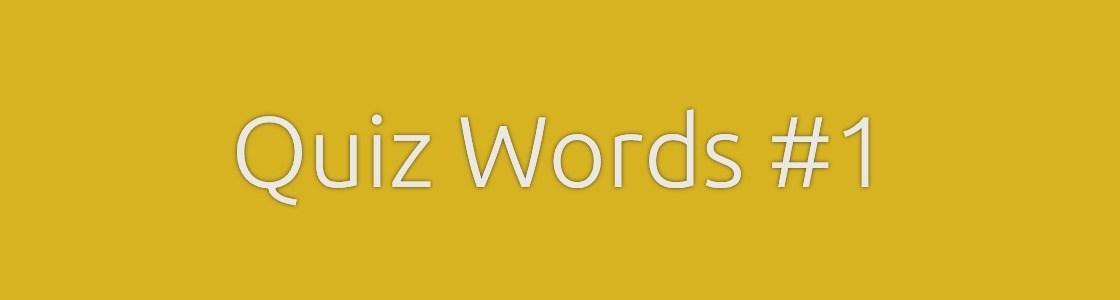 Quiz Words Crossword 1