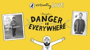 Puffin Virtually Live presents Danger is Everywhere. November 2014. Top comedian David O'Doherty & illustrator Chris Judge introduced Danger is Everywhere in this side-splitting event. Ideal for reluctant readers & budding young illustrators. Watch at http://bit.ly/1E5Esa0