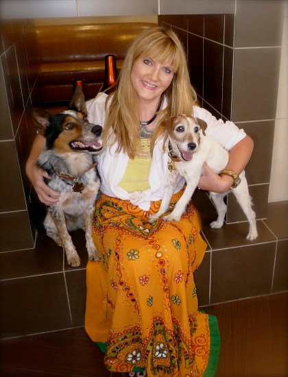 A moment created by a small act of kindness with memories for a lifetime - with Jumpy and Uggie in New Mexico