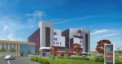 An artist's impression of Blacktown Hospital after the completion of the redevelopment in 2019.