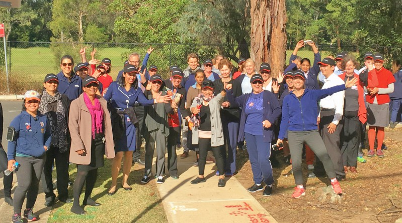 Walkers from Westmead on Walking Wednesday